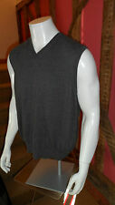 Large Light Grey Sleeveess  V Neck Sweater in 100% Cotton by Izod