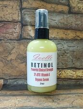 2oz CLINICAL STRENGTH ORGANIC RETINOL 3% HYALURONIC ACID RETINOL WRINKLE SERUM