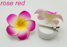 2pcs Bridal Bridesmaid rose red Plumeria Foam Flower Hair Clip Hair Accessories