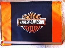 "Harley-Davidson NOS Bar & Shield Canvas Banner  40""W x 28""H"