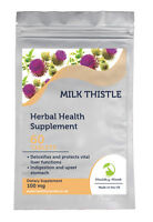 Natural Milk Thistle 100mg Herbal Health Supplement 30/60/90/120/180 Tablets