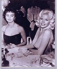 Three 81/2 x 10 Jayne Mansfield, Sophia Loren photos - Hollywood Movie Stars
