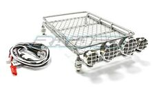 1/10 RC Trucks Crawler Roof Luggage Tray Rack with 4LED for SCX10 CC01 RC4WD