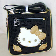 HelloKitty Messenger Cross Body  Shoulder Bag Lady Girl  2016 New Pu Bow Black