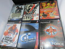 Playstation 2 PS2 Lot Medal of Honor Star Trek Grand Turismo 3 NBA 6 games