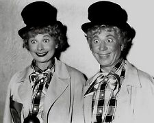 Rare Still Lucille Ball With Harpo Marx Close Up