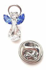 Swarovski Crystal Elements Birthstone Guardian Angel Pin September Sapphire