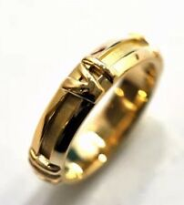 Auth Excellent TIFFANY&Co ATLAS Ring 18K Yellow Gold US4 W/ Box