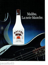PUBLICITE ADVERTISING 086  1987  Malibu coconut light drink La note Blanche 2