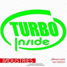 TURBO Inside - Aufkleber Fun Sticker (Cult Shocker OEM) Tuning JDM Geladen