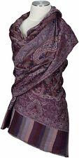 Schal 100% Cashmere scarf stole écharpe Foulard Bordeaux Blau blue burgundy