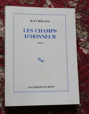 1990 Les champs d'honneur Roman Rouaud éditions de minuit Guerre 14-18 EO