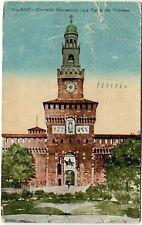 1924 Milano - Castello Sforzesco e Torre del Filarete, M. Centro - FP COL VG