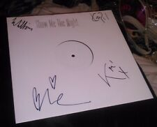 MYSTERY JETS SHOW ME THE NIGHT SIGNED WHITE LABEL NEW 12 INCH VINYL RECORD