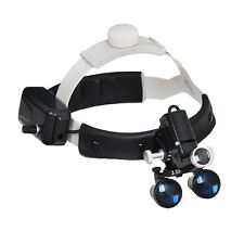 3.5X Dental Surgical Medical Headband Loupe with 5W LED Light Black DY-106