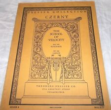 Presser Co.- The School of Velocity for the Pianoforte  Czerny OP. 299 Complete