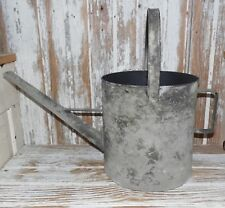 "Primitive Grungy Tin 15"" Big Watering Can Indoors or Outdoors Country Home"