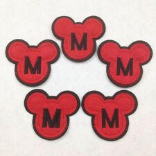 Set 5 pcs Letter M in the Mickey Mouse Iron On Sew On Cloth Patches Appliques #5