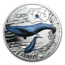 2015 Niue Silver Endangered Species Blue Whale Proof - SKU #87857