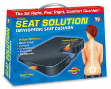 SEAT SOLUTION CUSHION CHAIR BACK ORTHOPEDIC SPINE ACHE COCCYX PAIN RELIEF NEW