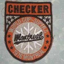 World Cup Super G Checker Patch - Montreal 1976