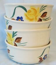 Red Wing Picardy Brown and Yellow Cereal Bowl set of 4