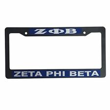 Zeta Phi Beta Black Plastic License Plate Frame