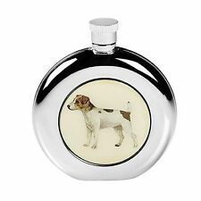 JACK RUSSELL DOG HIP FLASK 5oz STAINLESS STEEL COUNTRY SPORT GIFT BOX SCREW TOP
