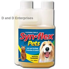 SYNFLEX FOR PETS BEEF FLAVORED LIQUID GLUCOSAMINE. SYN-FLEX RELIEVES JOINT PAIN