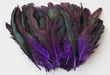 "100+ pcs.(16g) 6-8"" half bronze Regal Purple schlappen coque rooster feathers"