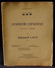 Partition / Score Lalo Symphonie espagnole violon & piano 1962 Etat correct