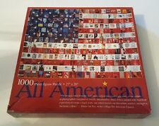 "All American Flag 1000 Pc Jigsaw Puzzle, CEACO, 27"" X 20"" Ages 12+"