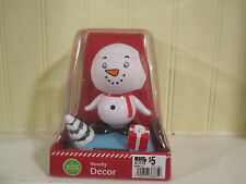 Snowman solar dancing Christmas holiday tree present new in package