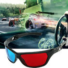 5X Cool Black Frame Red Blue 3D Glasses For Dimensional Anaglyph Movie Game DVD