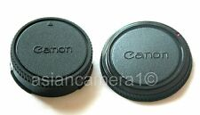 Body & Rear Lens Cap Set For Canon FD AV-1 FTb AT-1 F-1 FL SLR Camera Dust Cover