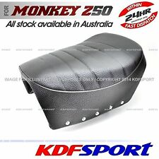 KDF SEAT FAT BLACK CUSHION LEATHER FOR  HONDA MONKEY Z50J GORILLA TONELLI
