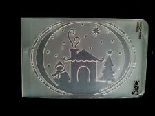 Sizzix Medium Embossing Folder CHRISTMAS WINTER SCENE fits Cuttlebug Big Shot