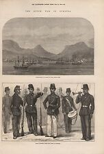 1873 SUMATRA - THE DUTCH WAR, ACHEEN, MALAY SOLDIERS
