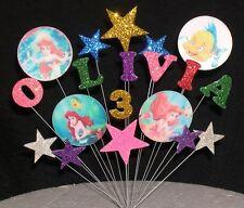 Disney Ariel La Sirenita Cumpleaños Pastel con decoración de cualquier nombre + Edad