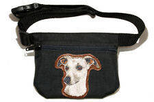 Embroidered Dog treat pouch/bag - for dog shows. Breed - Whippet