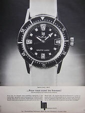 PUBLICITÉ DE PRESSE 1968 MONTRE LIP NAUTIC-LADY - ADVERTISING
