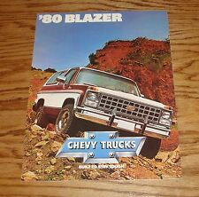 Original 1980 Chevrolet Blazer Sales Brochure 80 Chevy