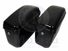 Universal Motorcycle GA Mutazu Hard Saddlebags Saddle bag & mounting brackets