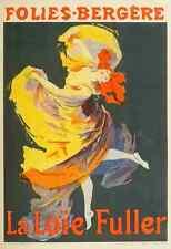 A4 photo CHERET Jules les affiches illustrees 1896 LA LOIE FULLER imprimé Poster
