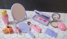 Barbie Bratz Liv Doll Salon Vanity Mirror Powder Makeup Kit Mini Bottle Brush