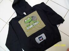 M.J.SOFFE /SESAME ST.OSCAR THE GROUCH-BLACK PULL-ON HOODIE/BLING YOUTH XL 18-20