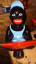 black Americana lawn jockey watermelon boy