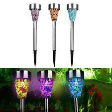 3x Solar Power Mosaic Path LED Light Garden Decor Yard Outdoor Landscape Lamp