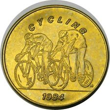 elf 1984 Olympics Bus Token Cycling