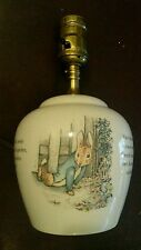 Vintage Wedgewood Peter Rabbit Porcelain Table Nursery Lamp No Shade Works Great